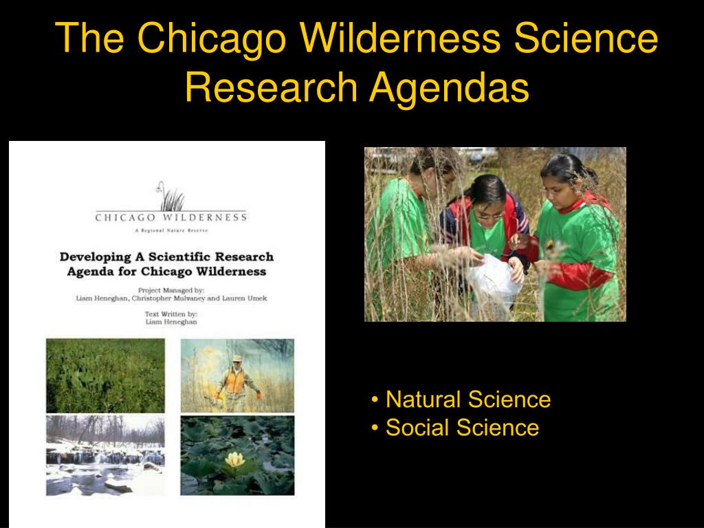 The Chicago Wilderness Science Research Agendas