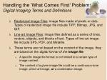 handling the what comes first problem digital imaging terms and definitions8
