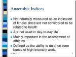 anaerobic indices