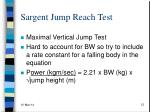 sargent jump reach test