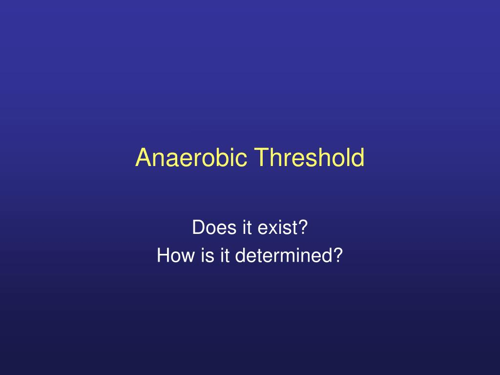 anaerobic threshold l.