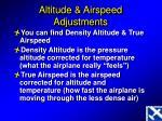 altitude airspeed adjustments