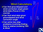 wind calculations