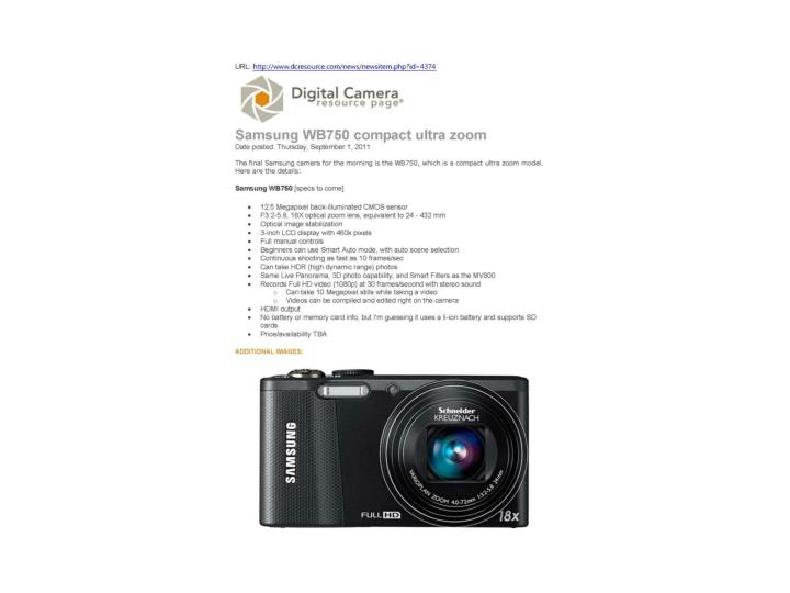 Samsung wb750 compact ultra zoom dc resource