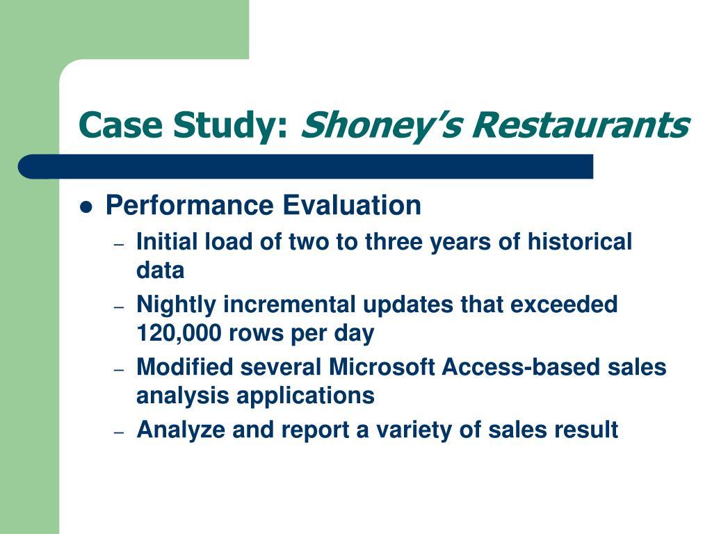 case study irs and datawarehousing