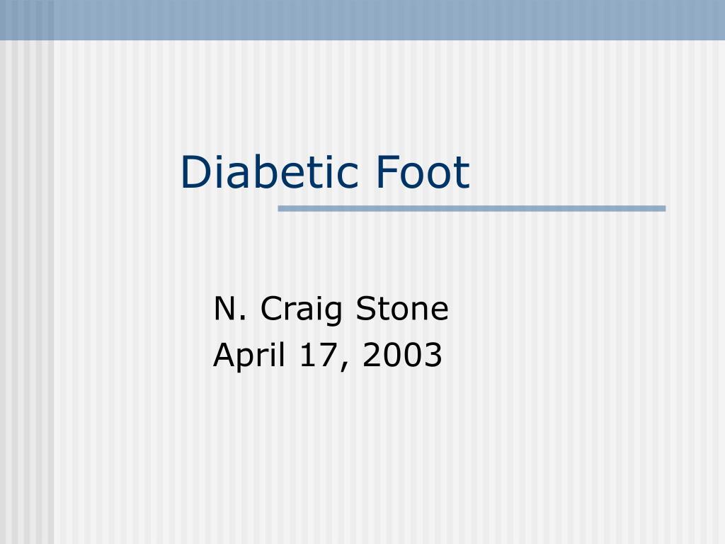 diabetic foot l.