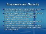 economics and security