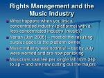 rights management and the music industry