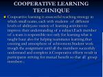 cooperative learning technique45