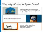why insight control for system center