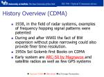 history overview cdma