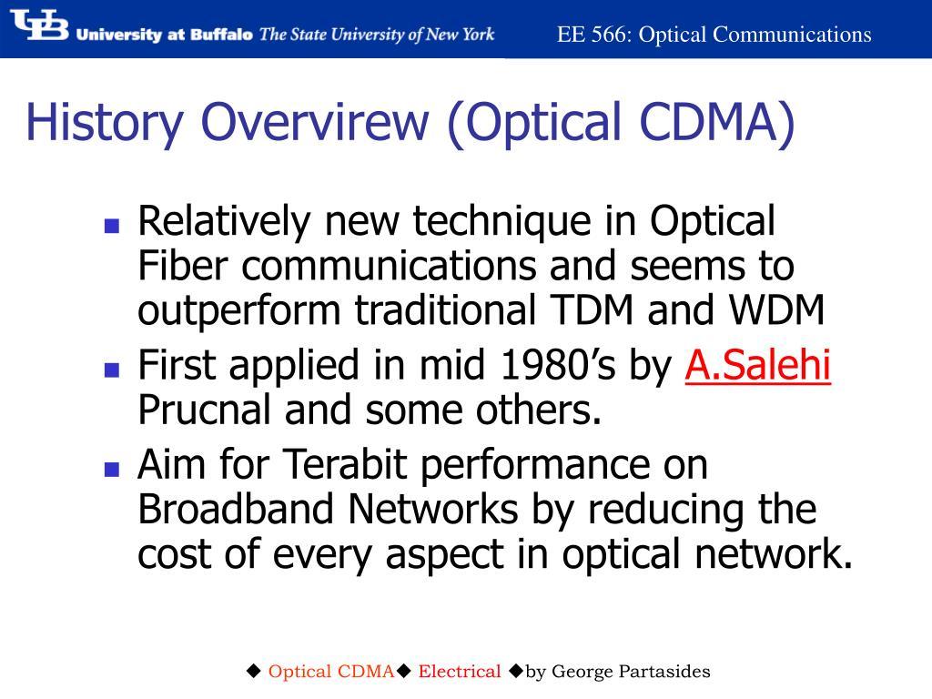 History Overvirew (Optical CDMA)
