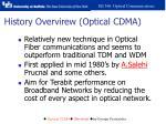 history overvirew optical cdma