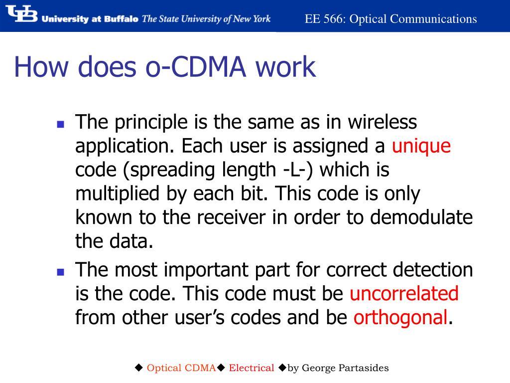 How does o-CDMA work