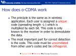 how does o cdma work