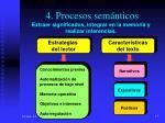 4 procesos sem nticos extraer significados integrar en la memoria y realizar inferencias