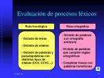 evaluaci n de procesos l xicos39