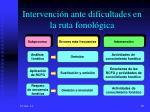 intervenci n ante dificultades en la ruta fonol gica40