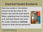 electrical hazard avoidance