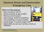 electrical shock and electrocution emergency care39
