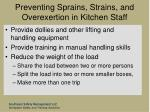 preventing sprains strains and overexertion in kitchen staff80