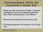 preventing sprains strains and overexertion in kitchen staff81