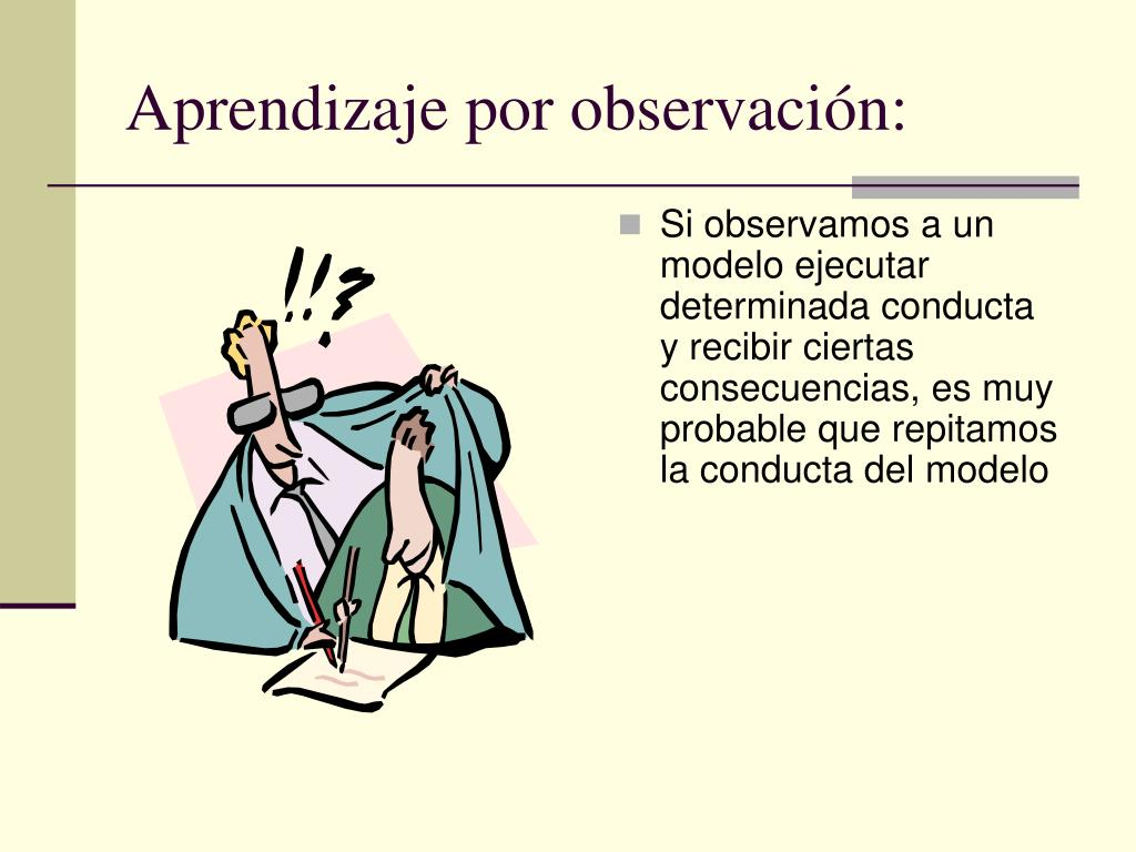 Aprendizaje por observación: