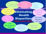 eliminating health disparities what will it take