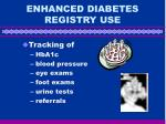 enhanced diabetes registry use