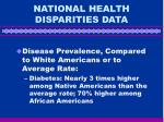 national health disparities data