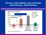 persons with diabetes and end stage renal disease united states