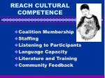 reach cultural competence