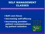 self management classes
