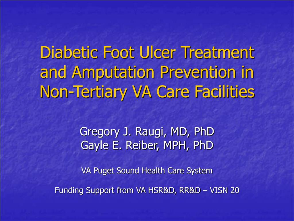 PPT - Diabetic Foot Ulcer Treatment and Amputation Prevention in Non