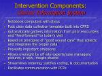 intervention components clinical information system