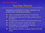 two key factors