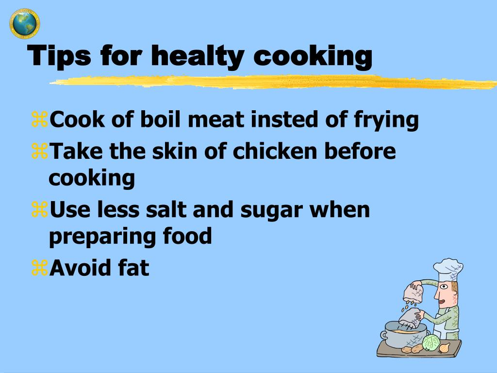 Tips for healty cooking