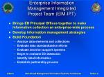 enterprise information management integrated project team eim ipt