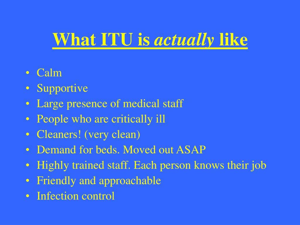 What ITU is