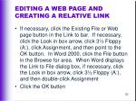 editing a web page and creating a relative link130