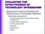 evaluating the effectiveness of technology integration30