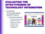 evaluating the effectiveness of technology integration35