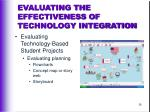 evaluating the effectiveness of technology integration36