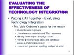 evaluating the effectiveness of technology integration39