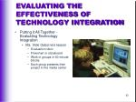 evaluating the effectiveness of technology integration42