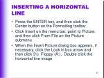 inserting a horizontal line