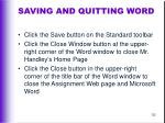 saving and quitting word
