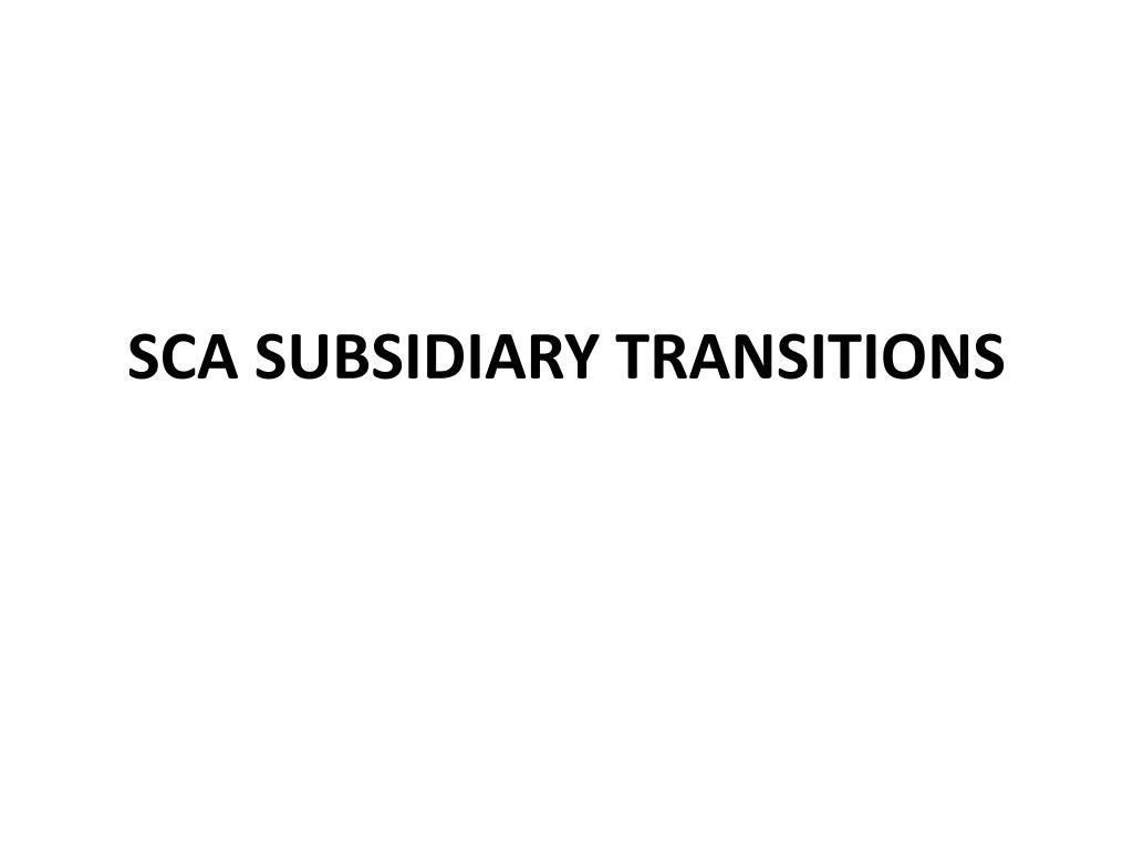 sca subsidiary transitions l.