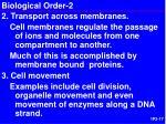 biological order 2
