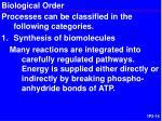 biological order